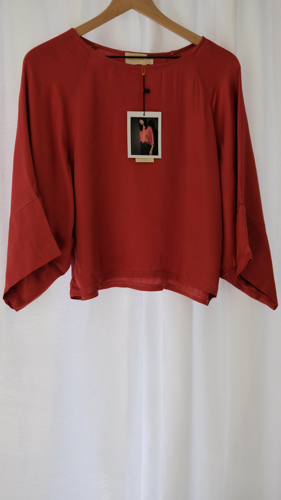 Nation LTD Goya Tee in Marsala Sateen