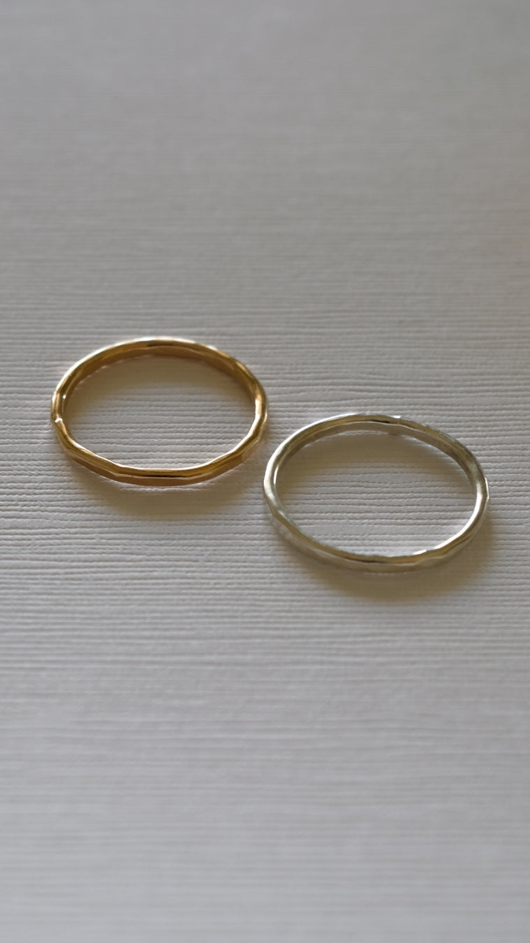 Hammered Stacking Rings by Sloane Jewelry Design