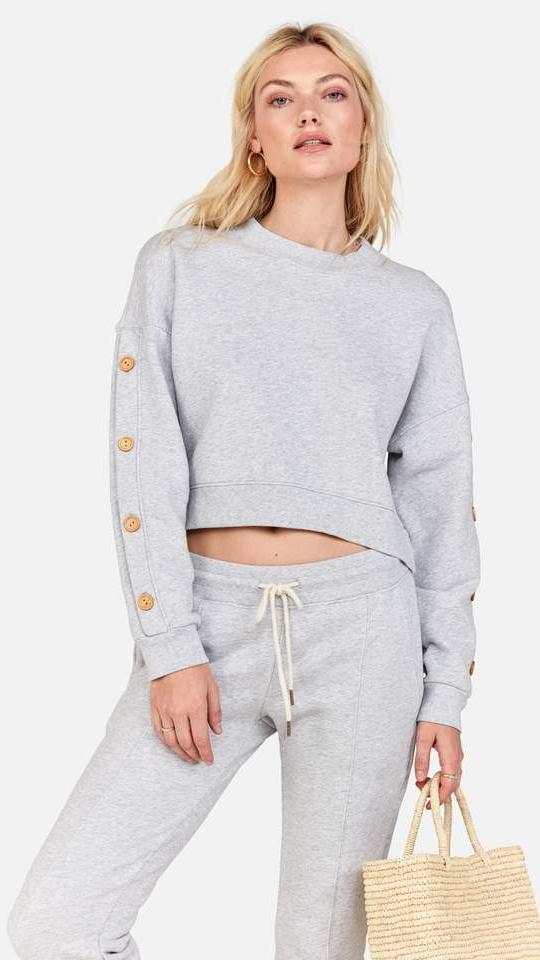 Mate the Label Harvey Sweater in Heather Grey