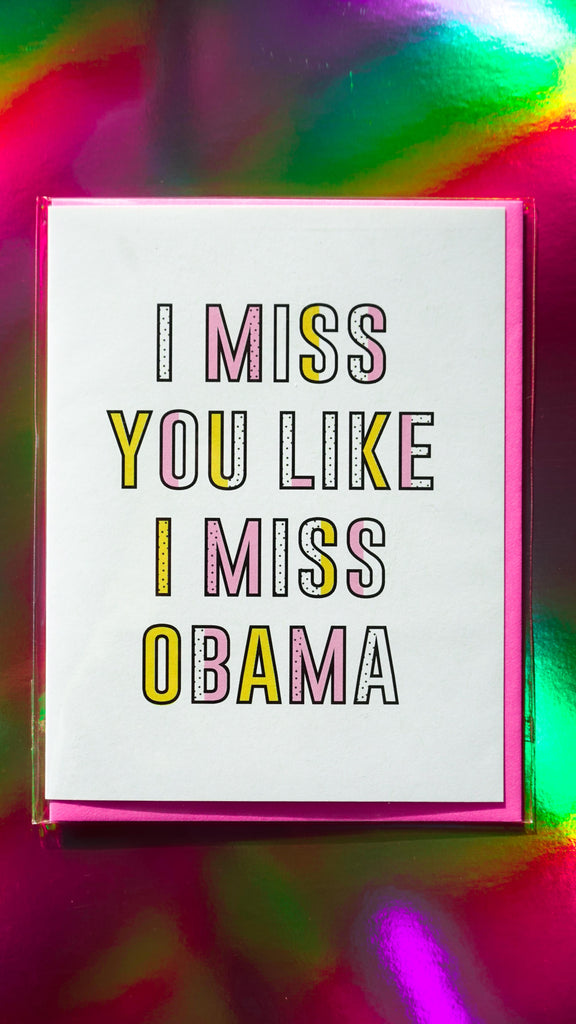 The F Word Gift Shop I Miss You Greeting Card