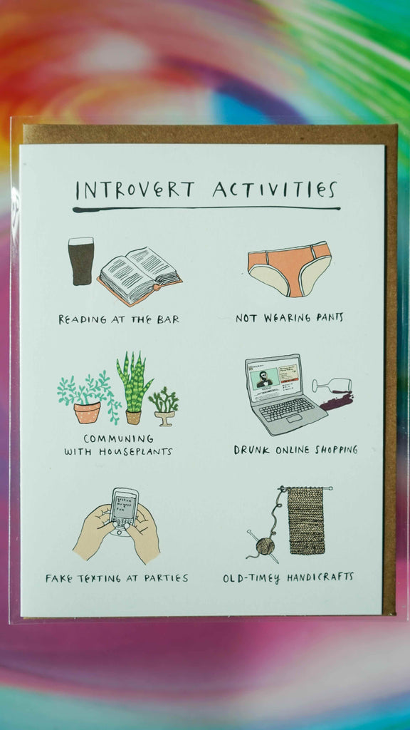 Introvert Activities Card by Party of One