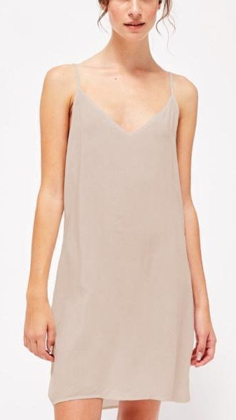 Lacausa V Slip Dress in Biscuit