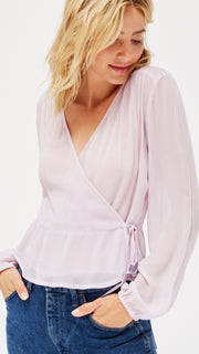LACAUSA Clothing Bonnie Top in Lavender