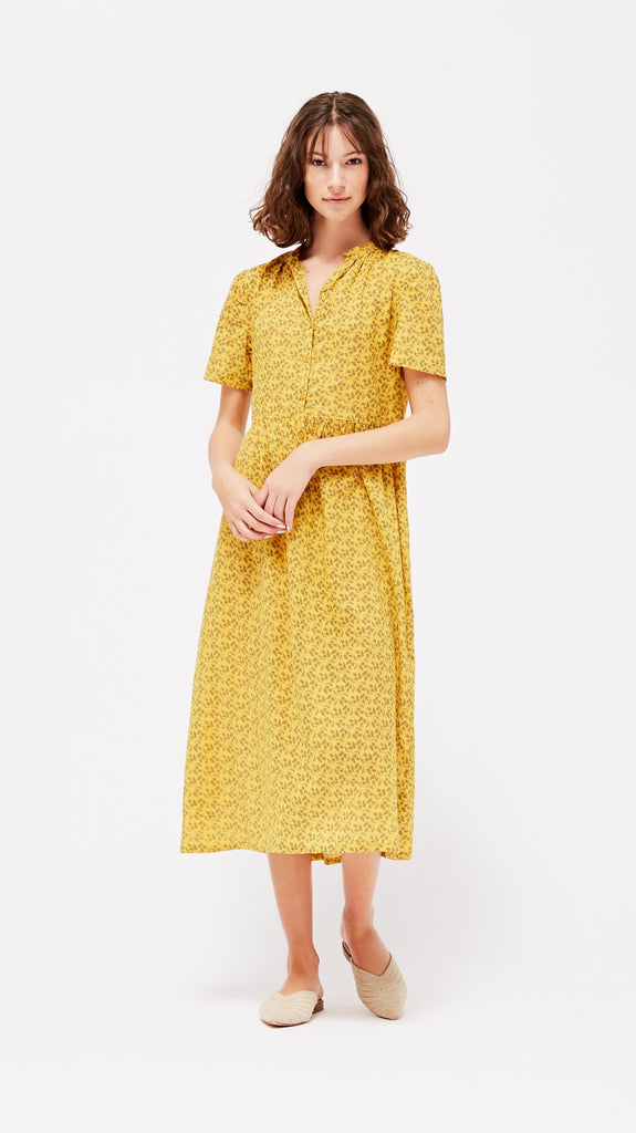LACAUSA Clothing Dakota Midi Dress in Marigold