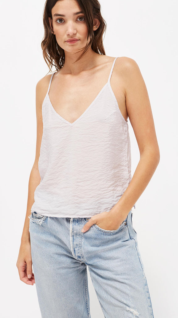 LACAUSA Clothing Sofia Slip Tank in Lavender