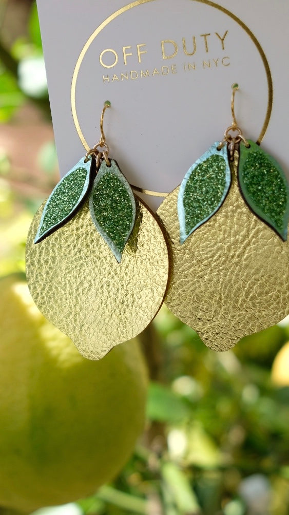Off Duty NYC Lemon Earrings