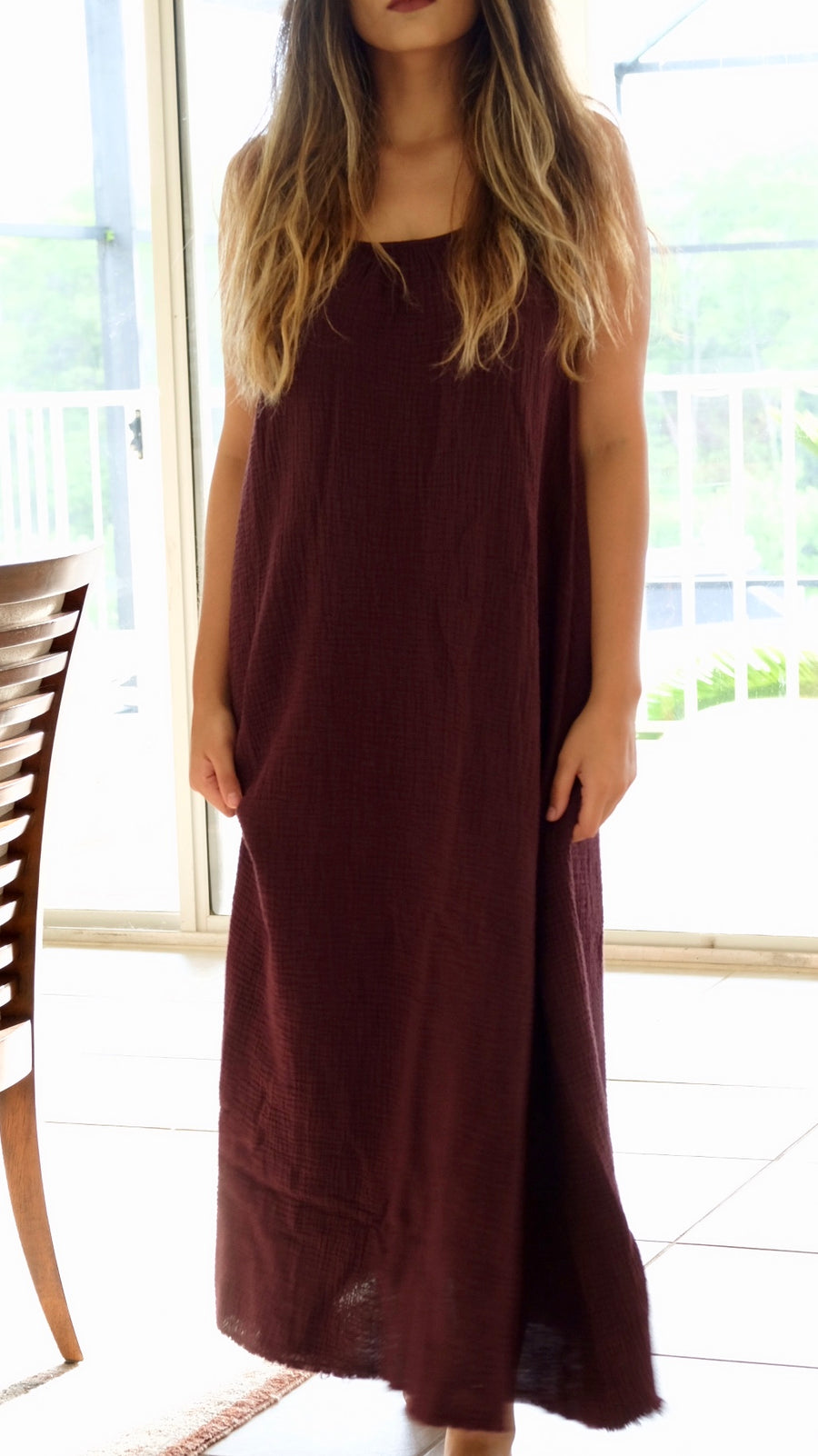 Nation LTD Lila Cotton Dress in Raisin