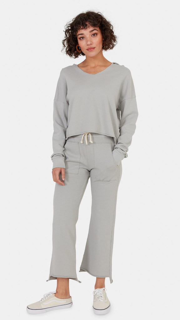Edin Crop Sweat Pant in Cloud by MATE The Label