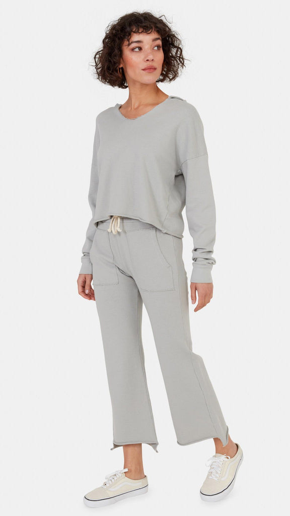 MATE The Label Edin Crop Sweat Pant in Cloud