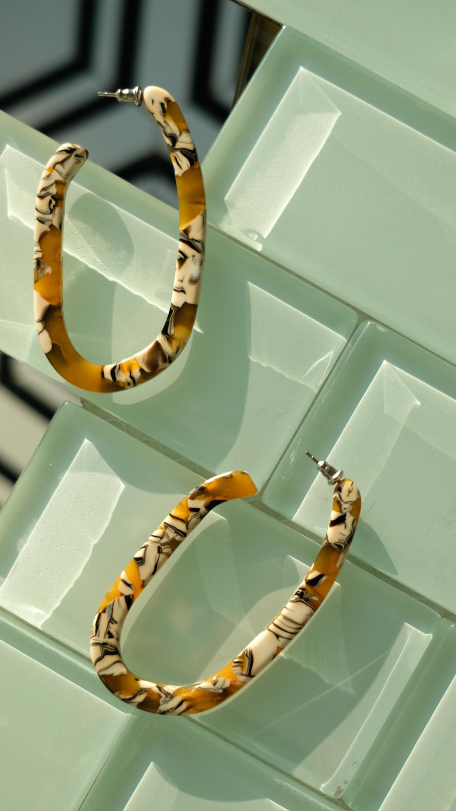 Margot X Hoops in Calico by Machete Jewelry