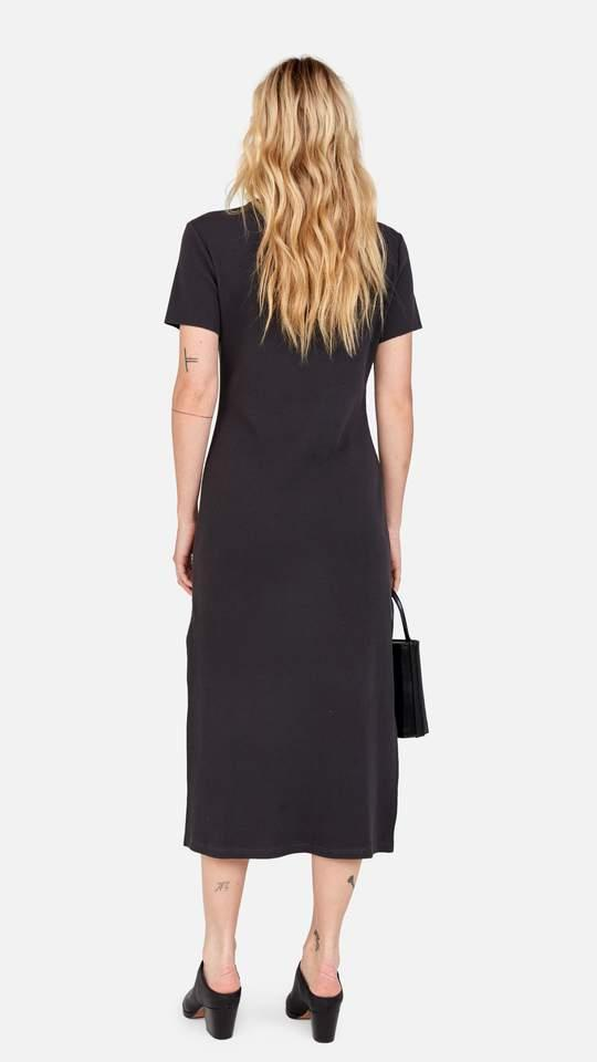 Mate Layla Midi Dress in Charcoal