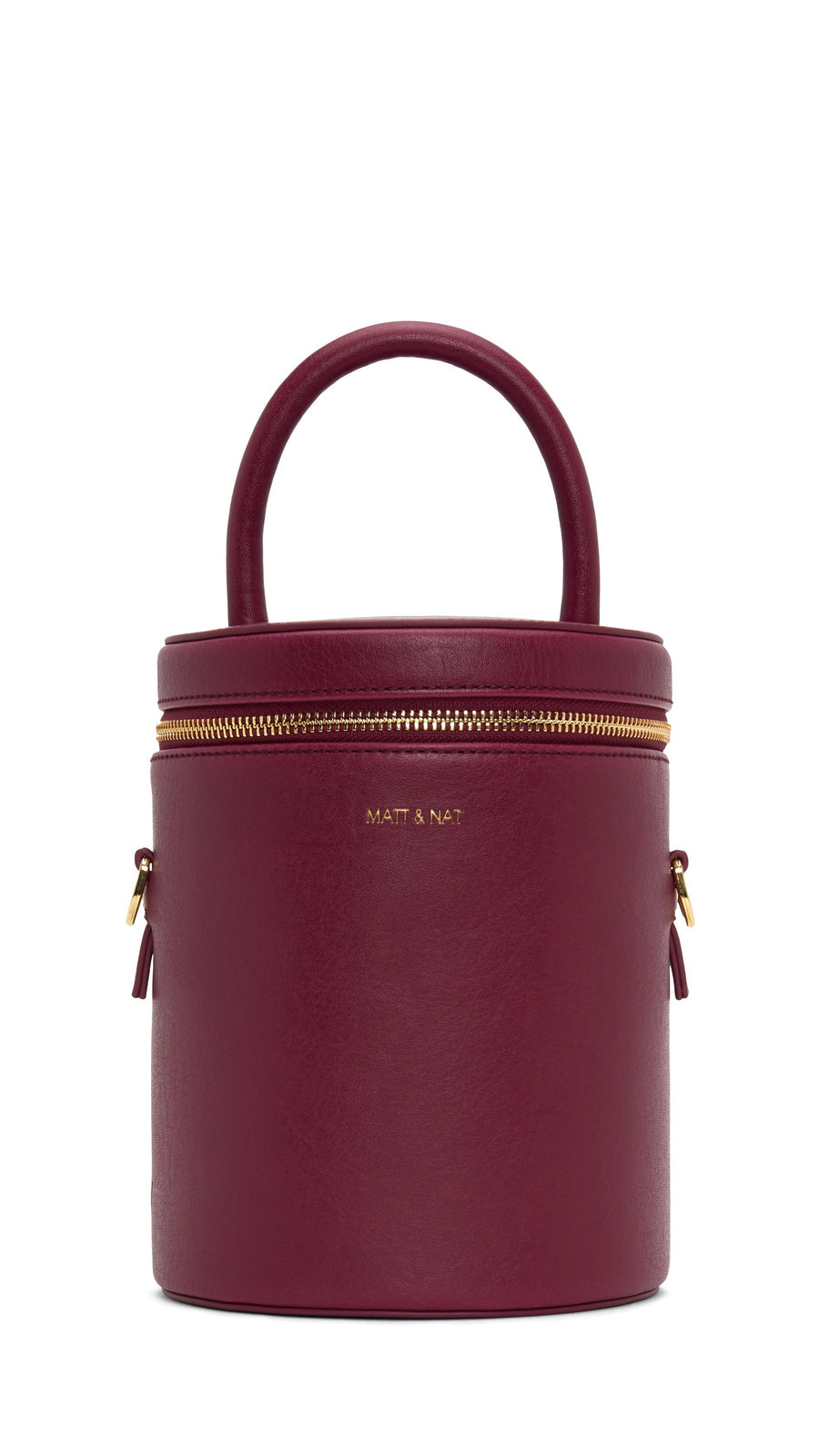 Matt & Nat DOV Drum Crossbody Bag in Garnet and Gold
