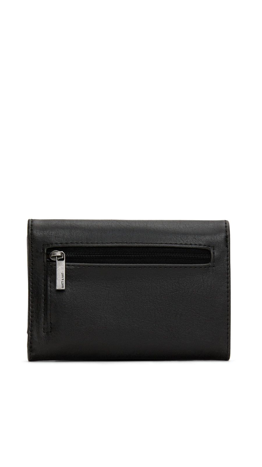 Matt & Nat Vera Small Wallet in Black with Silver Hardware