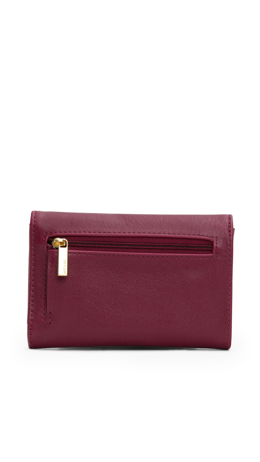 Matt & Nat Vera Small Wallet in Garnet with Gold Hardware