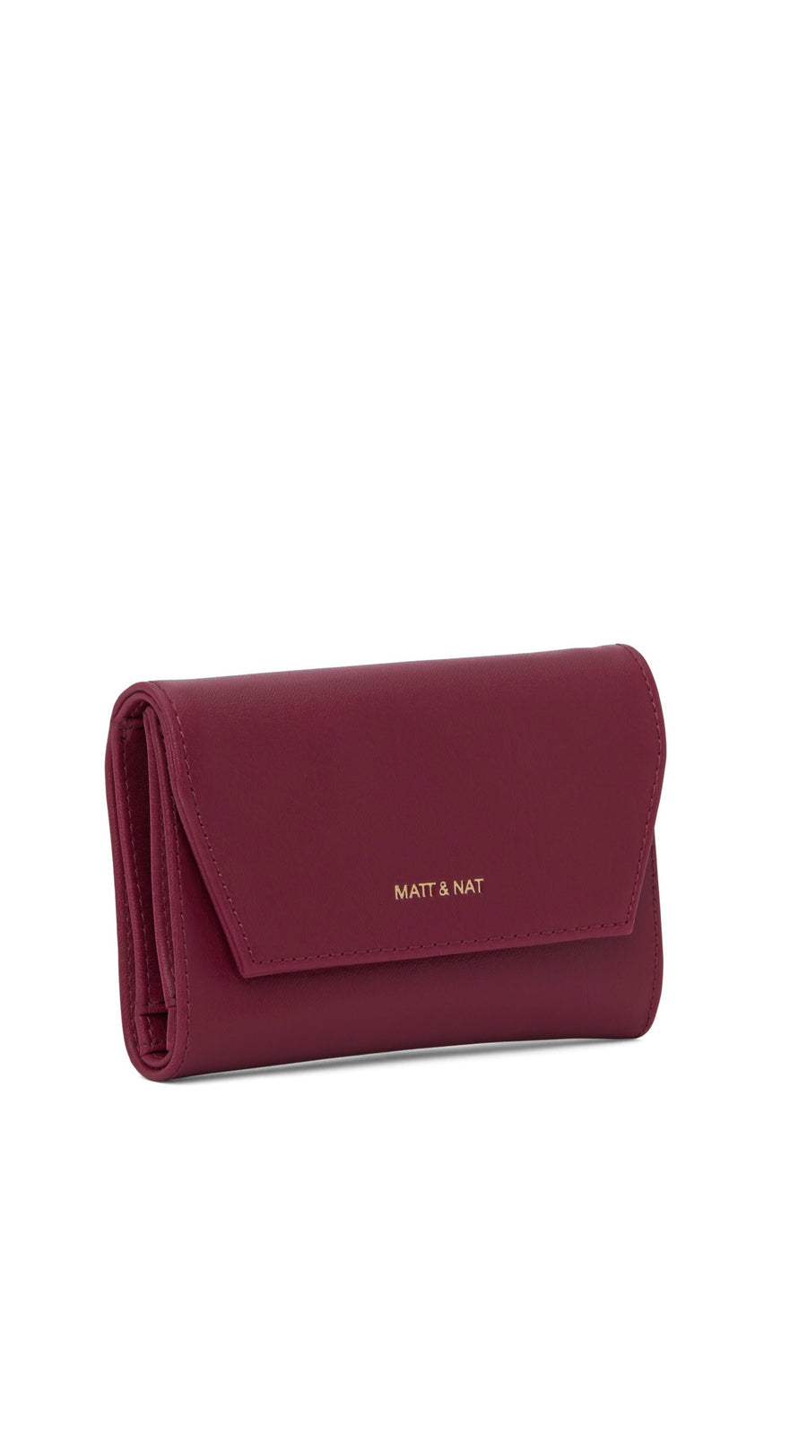 Matt & Nat Vera Small Garnet And Gold Wallet