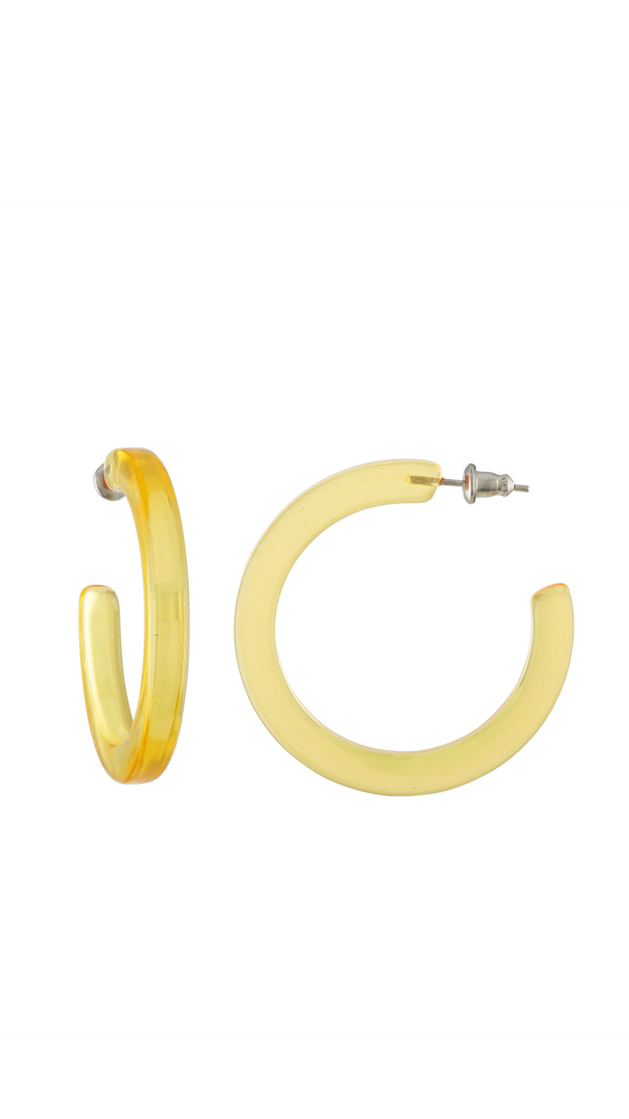ShopMachete Midi Hoops in Lemon