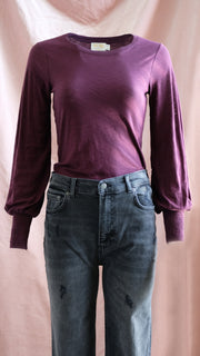 Nation LTD Victoria Long Sleeve in Mulberry