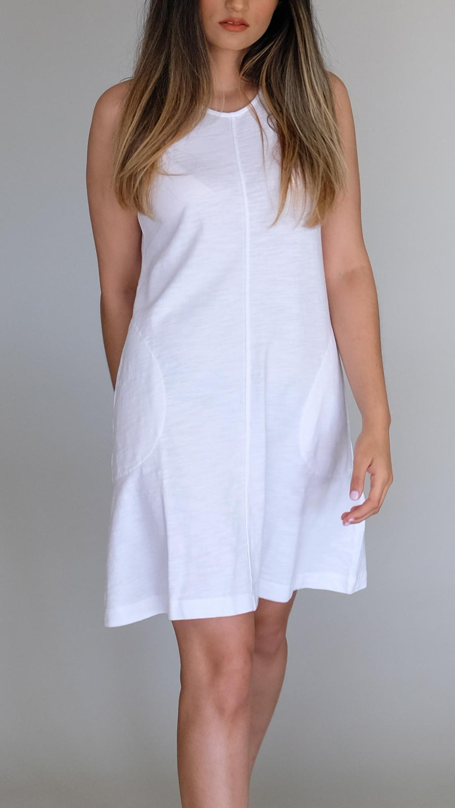 White A-Line Dress by Nation LTD