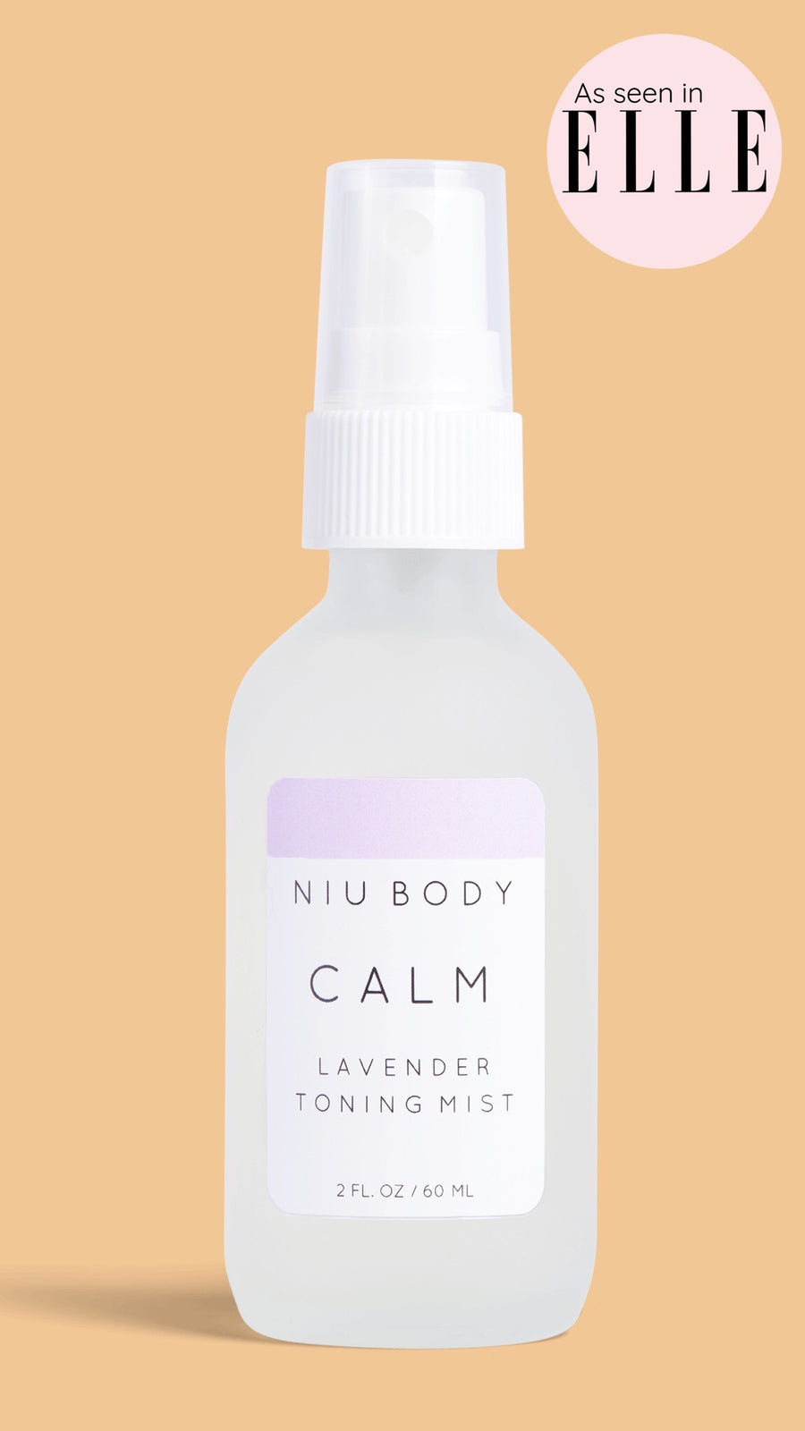 Niu Body Calm Lavender Toning Mist As Seen in Elle Magazine