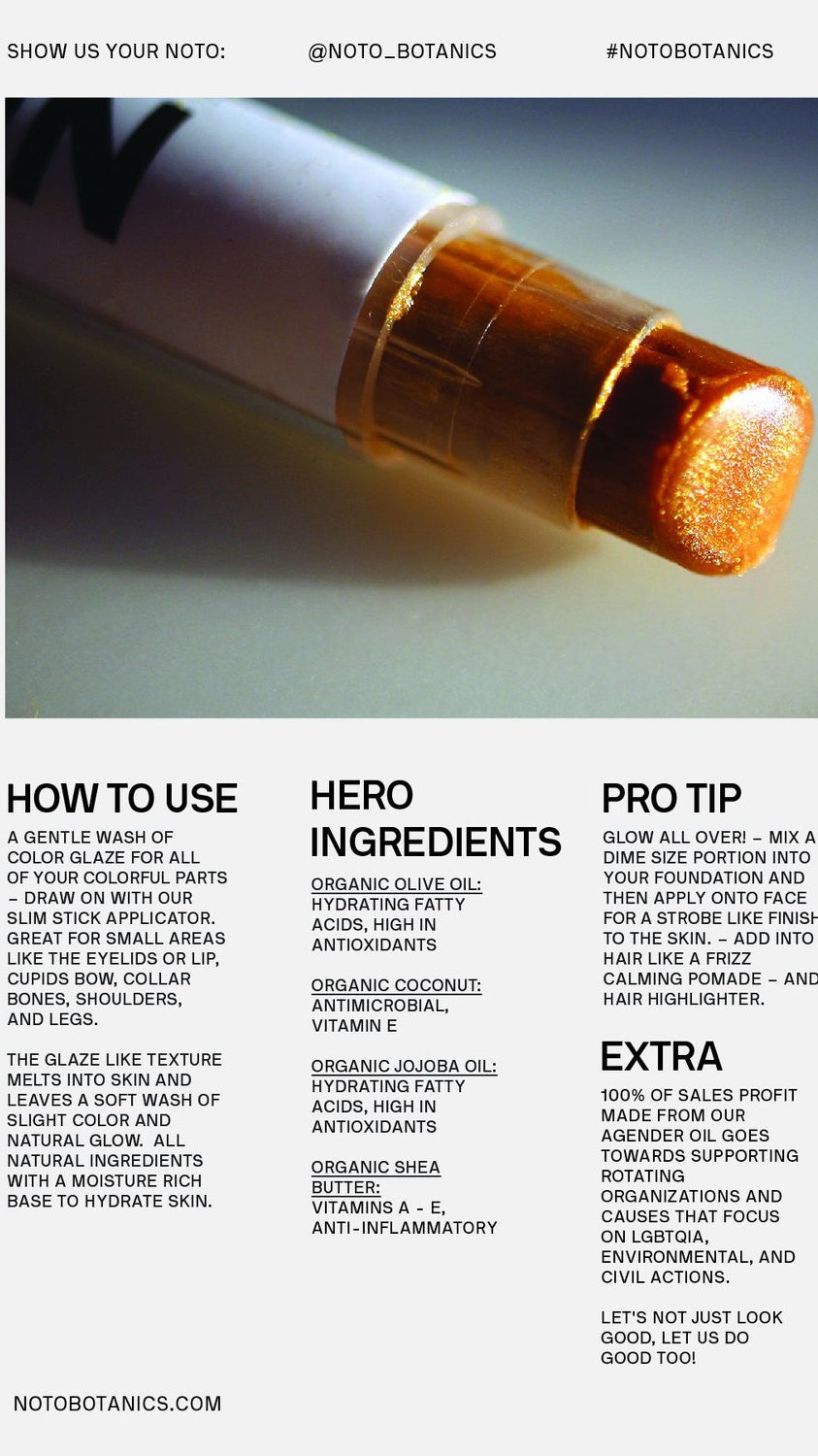 NOTO Botanics Gold Glow Stick Ingredients