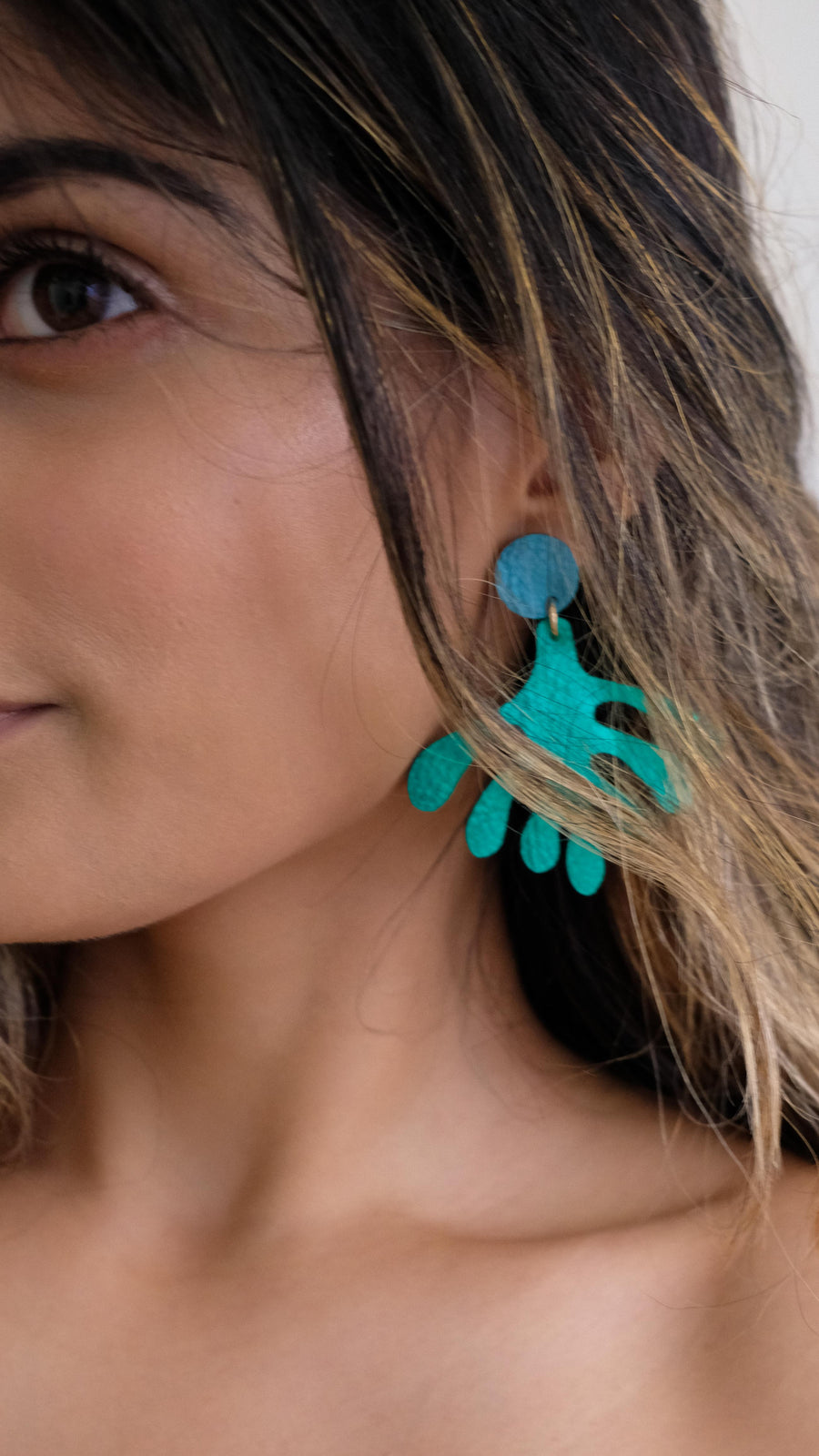 OFF DUTY NYC Abstract Leaves Earrings