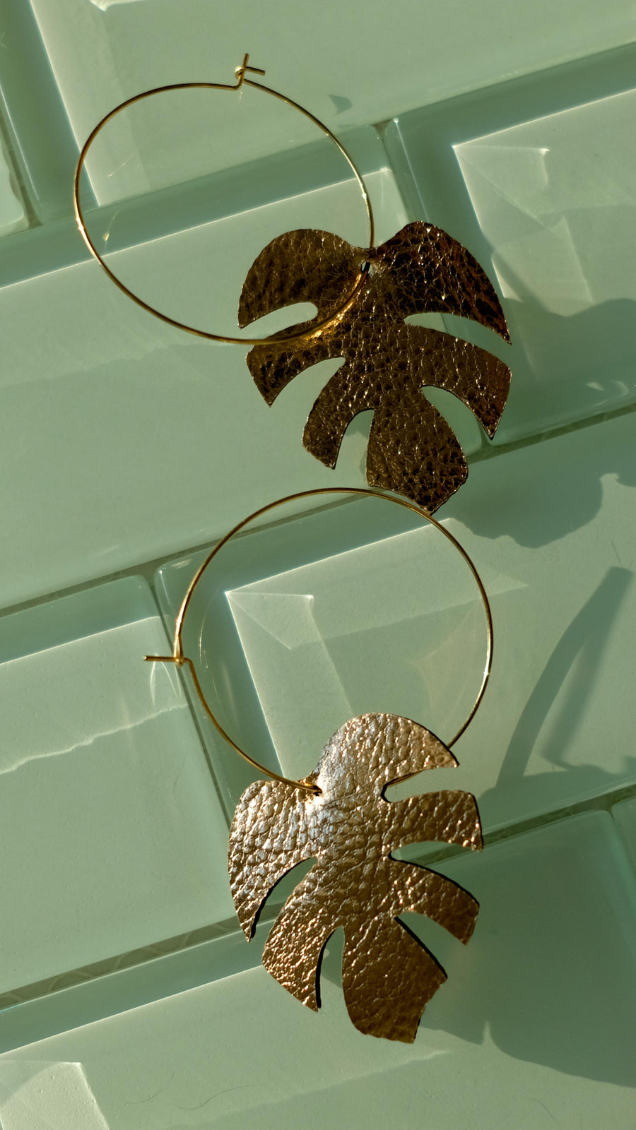 Palm Leaf Earrings by Off Duty NYC
