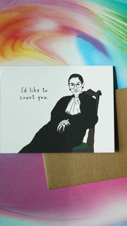 Ruth Bader Ginsburg I'd Like to Court You Card by Party of One