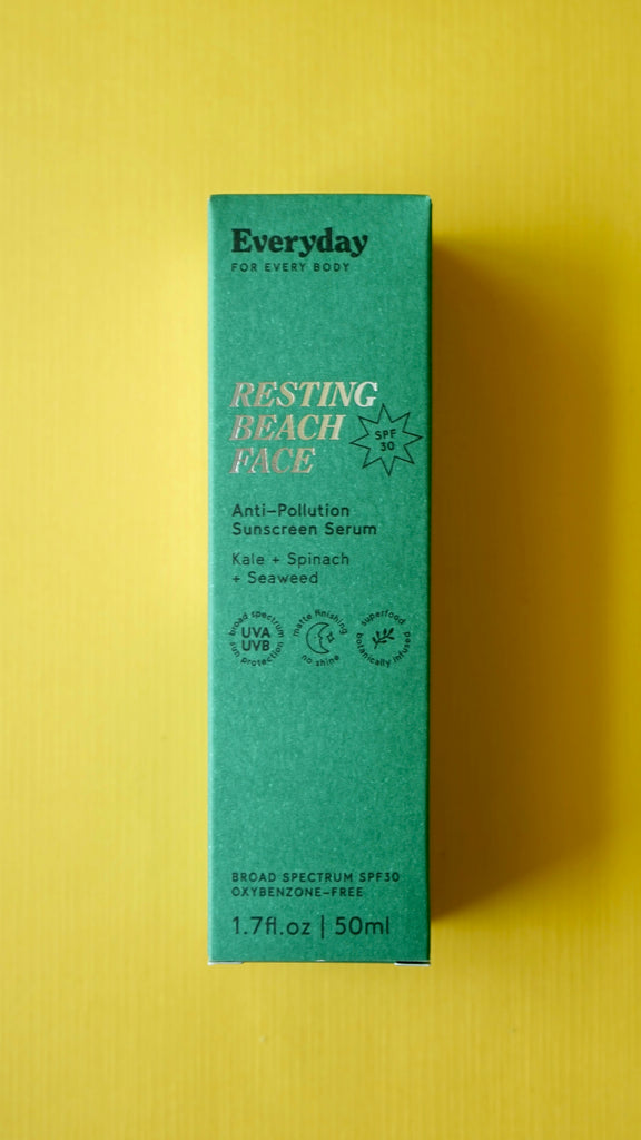 Resting Beach Face Anti-Pollution Sunscreen Serum SPF 50 by Everyday for Every Body