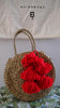 Brunna Co Petite Luna Straw Bag with Red Tassels