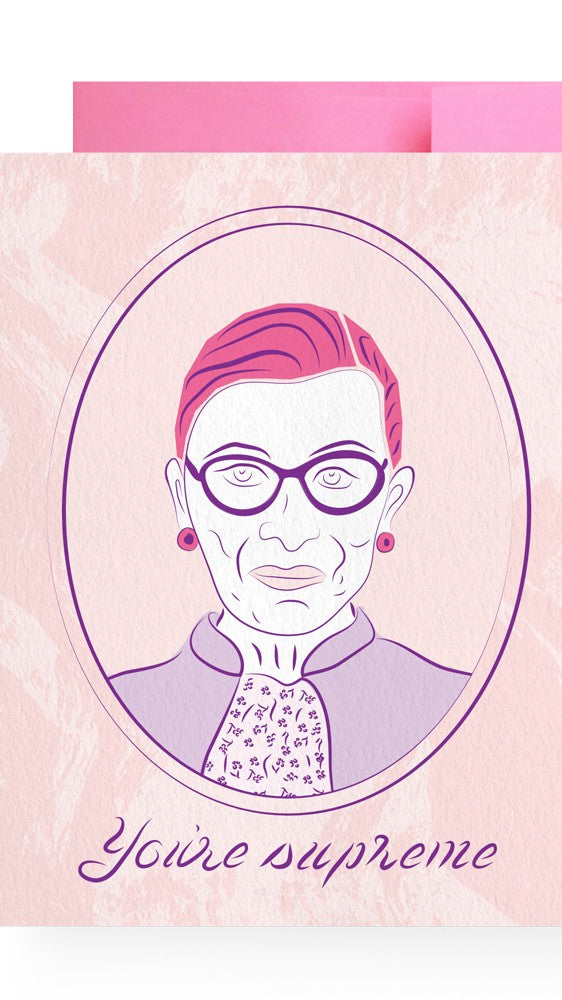 Boss Dotty Paper Co Ruth Bader Ginsburg Card