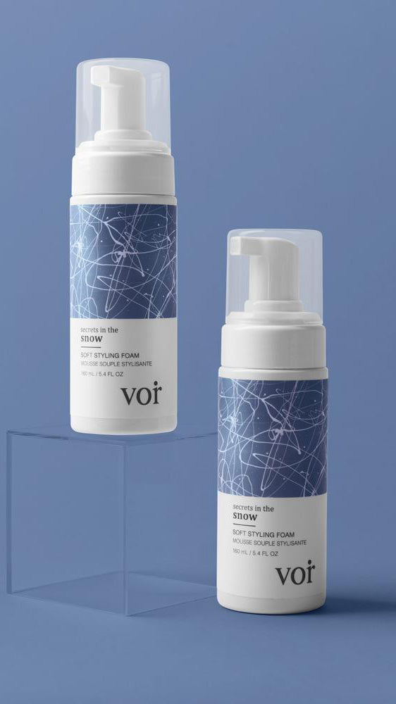 Soft Styling Foam by Voir Haircare - Secrets in the Snow