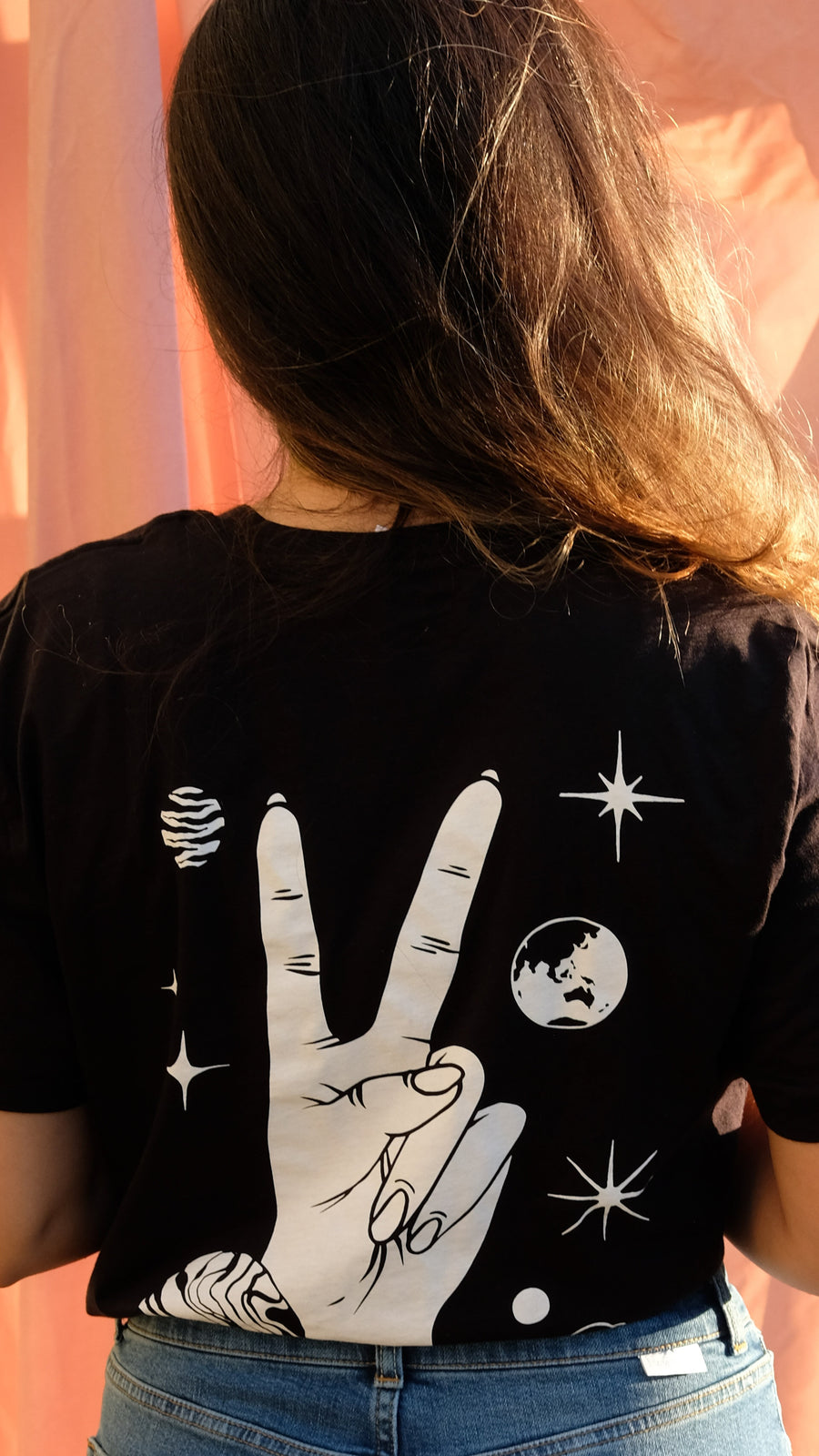 Astronomy Club Organic Cotton Tee Designed by Illustrator Anja Slibar