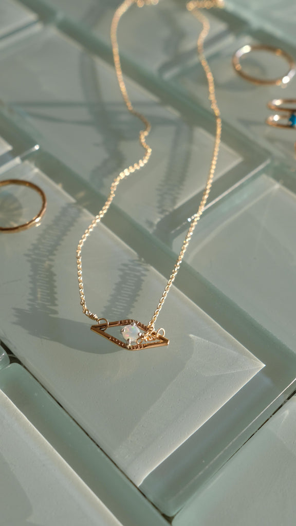 Diamond Gem Necklace by Sloane Jewelry Design at The Lunary