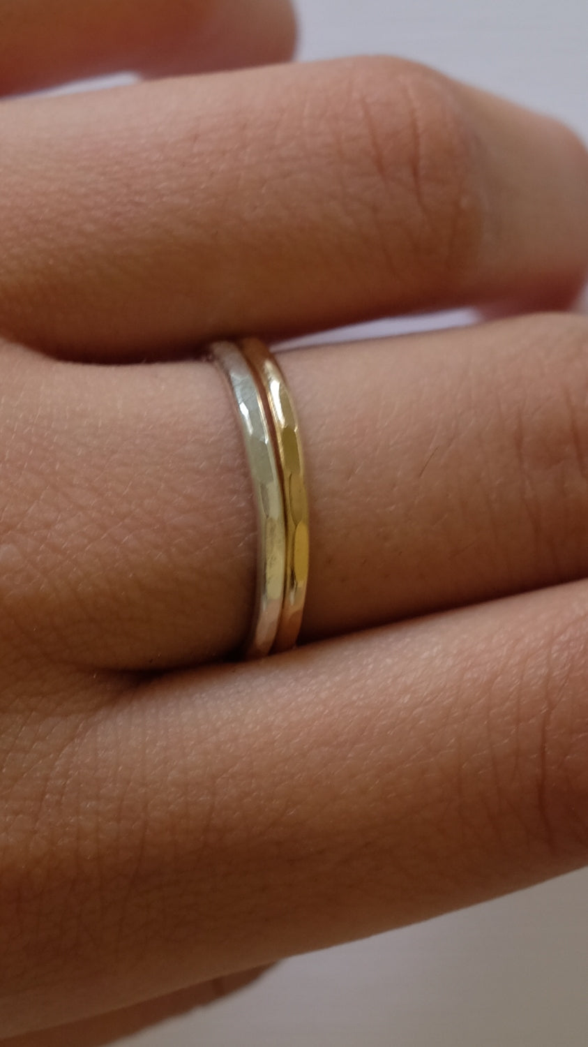 Sloane Jewelry Design Hammered Stacking Rings