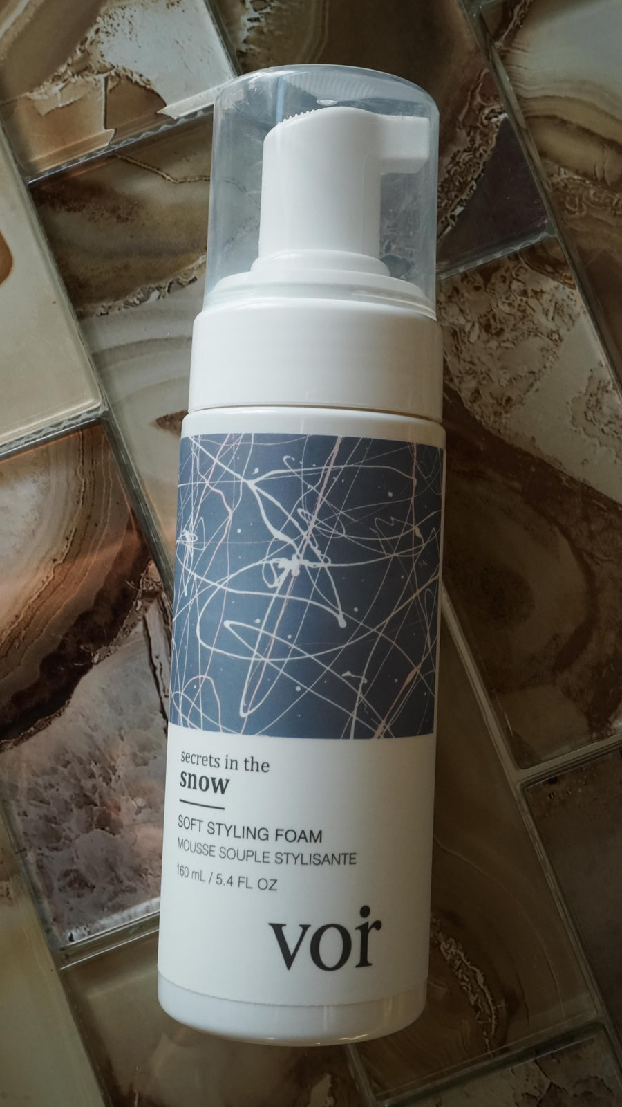 Secrets in the Snow Soft Styling Foam by Voir Haircare