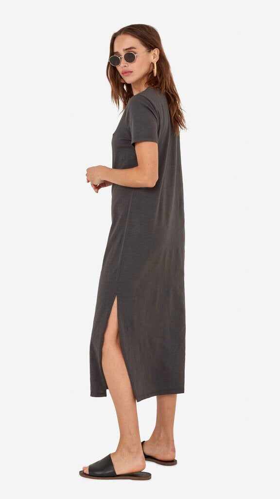Dana Midi Dress in Charcoal by MATE The Label
