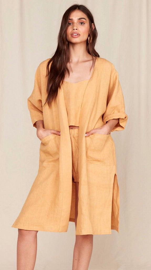 MATE The Label Lily Kimono in Ochre