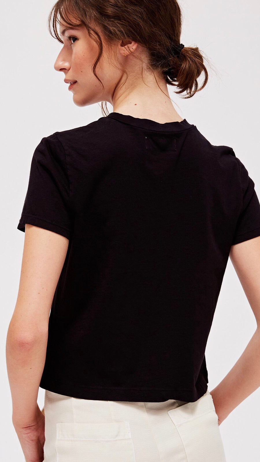Foster Tee in Black by LACAUSA Clothing