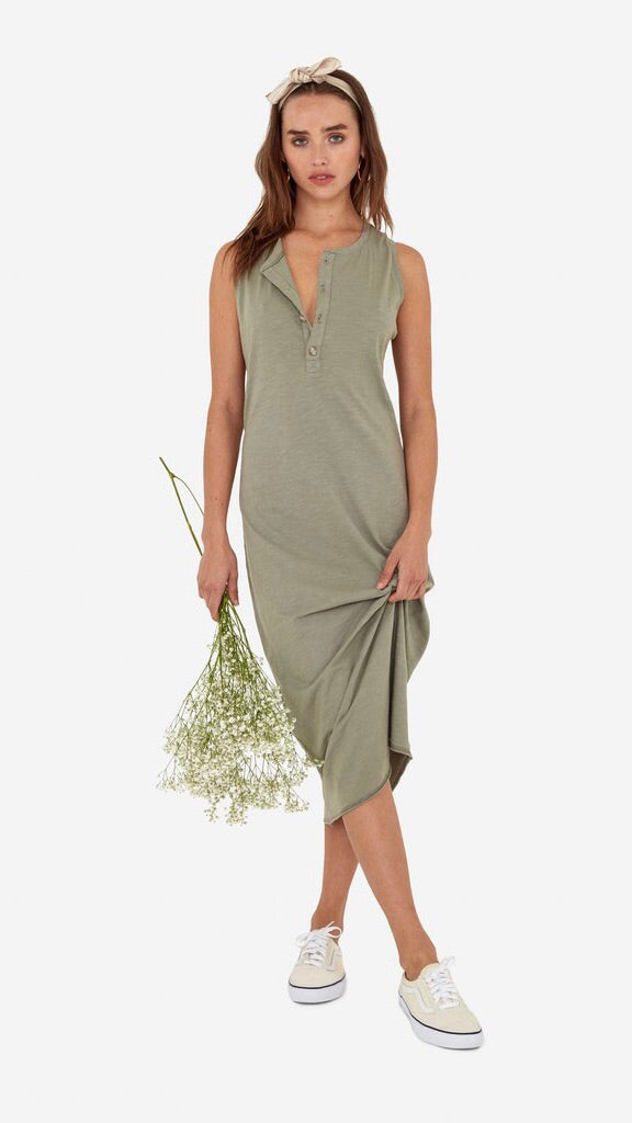 Avery Midi Dress in Sage by MATE The Label