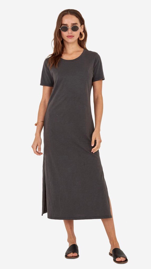 MATE The Label Dana Midi Dress in Charcoal