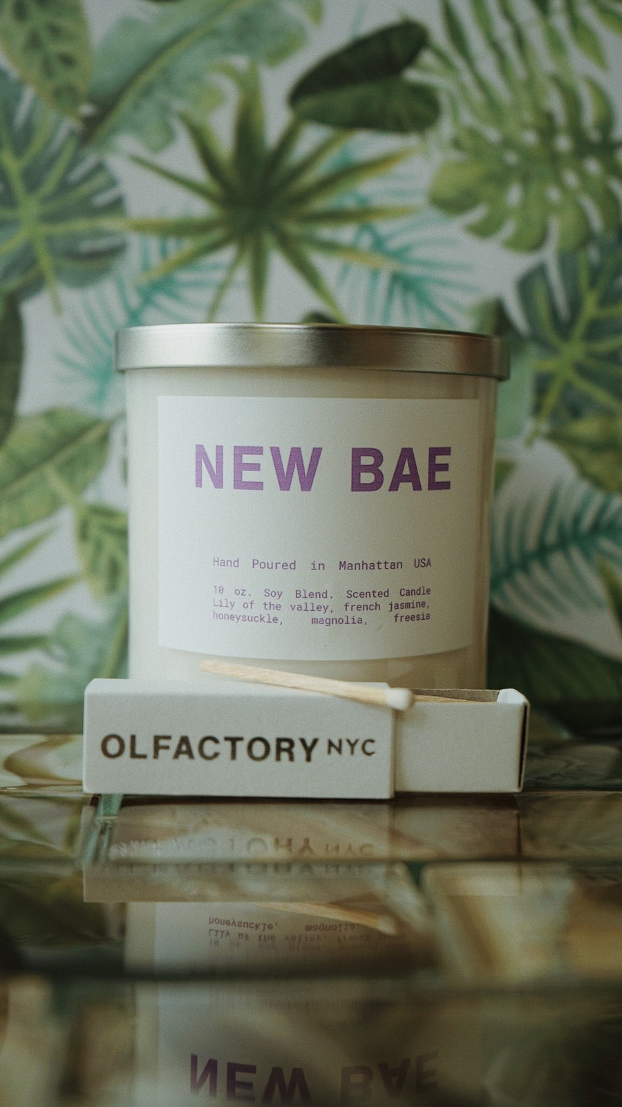New Bae Candle by Olfactory NYC Hand Poured in Manhattan USA