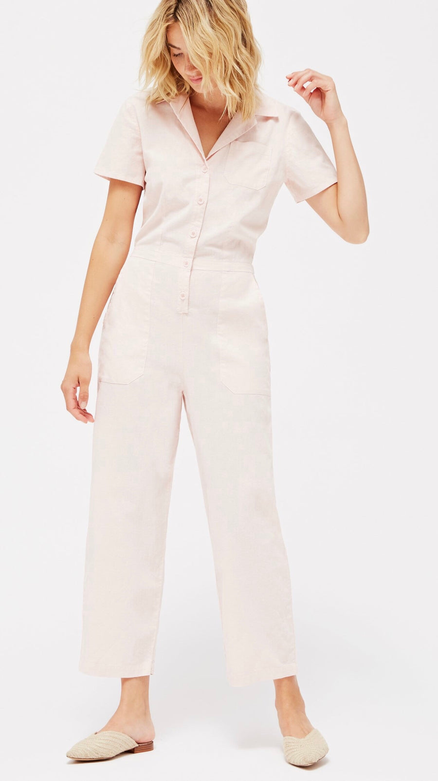 LACAUSA Clothing Montana Jumpsuit in Peony