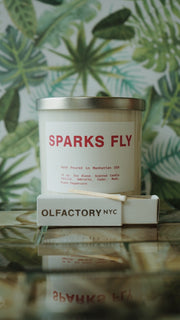 Olfactory NYC Sparks Fly Hand Poured Soy Wax Candle