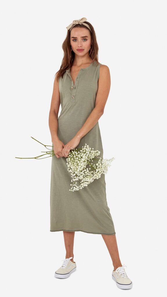 MATE The Label Avery Midi Dress in Sage