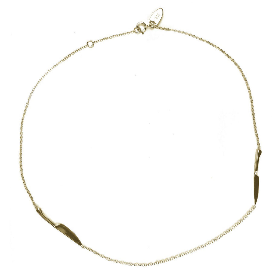 VERAMEAT Double Trouble Knife Choker in Gold Vermeil