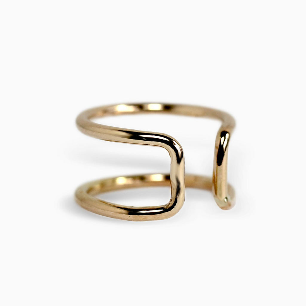 Minimalist Ear Cuff in Gold-SLOANE-THE LUNARY