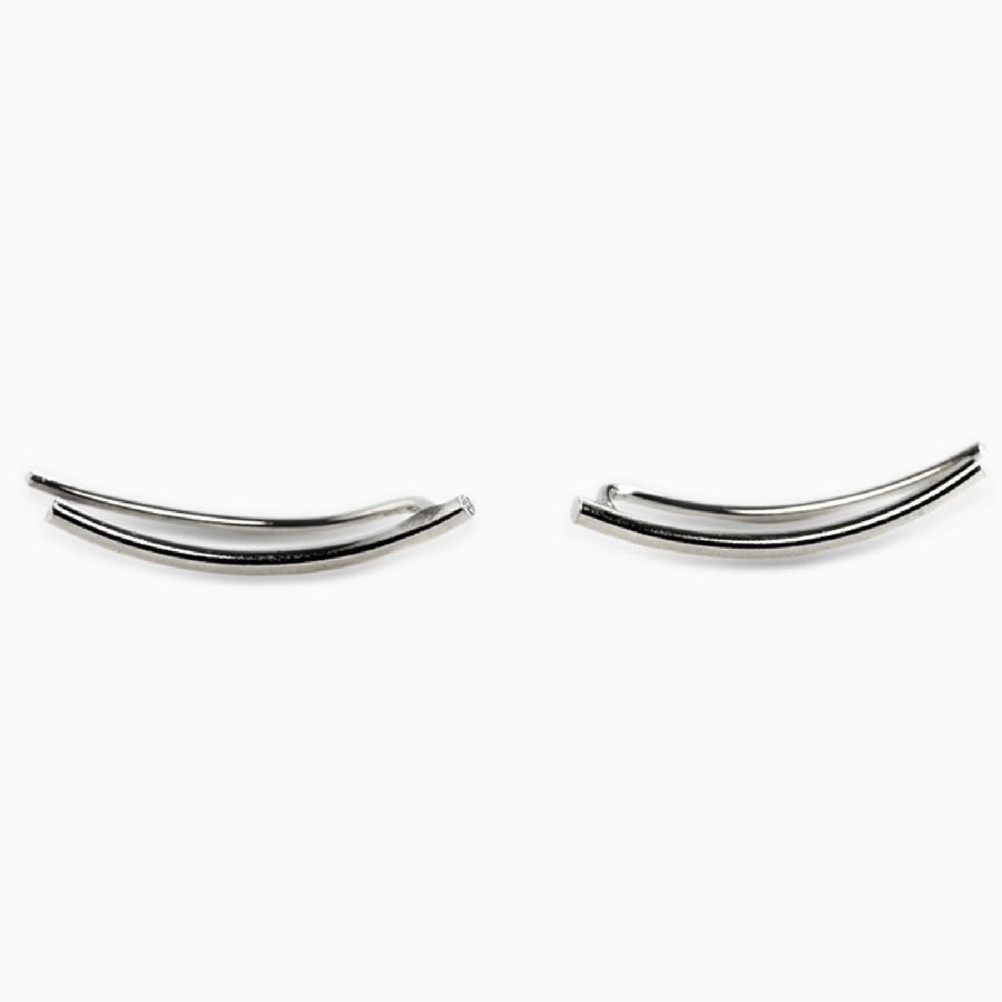 Modern Ear Climbers in Silver-SLOANE-THE LUNARY