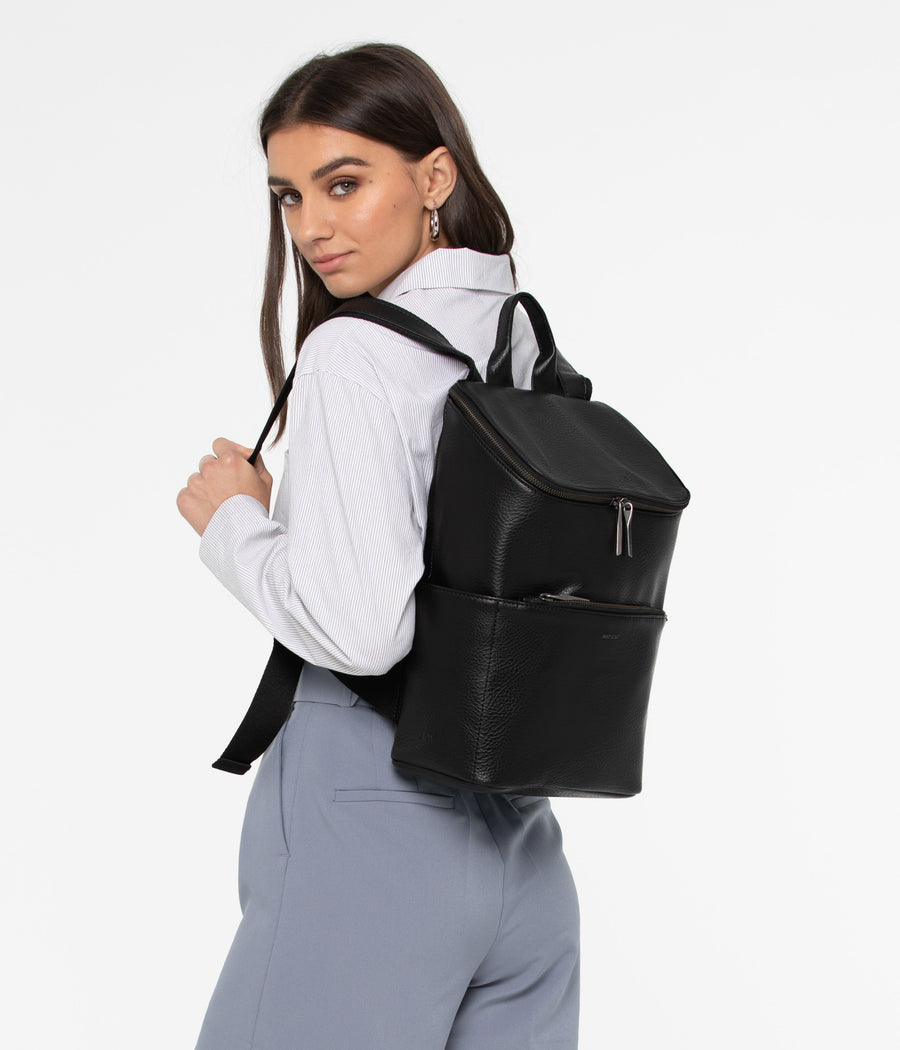 Side View of Woman Wearing the Brave Backpack by Matt & Nat