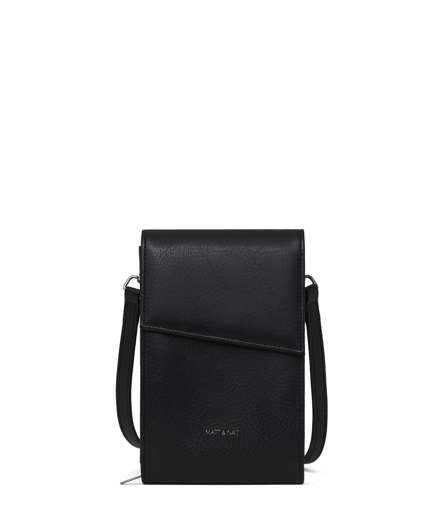 Matt & Nat Met Crossbody Wallet in Black