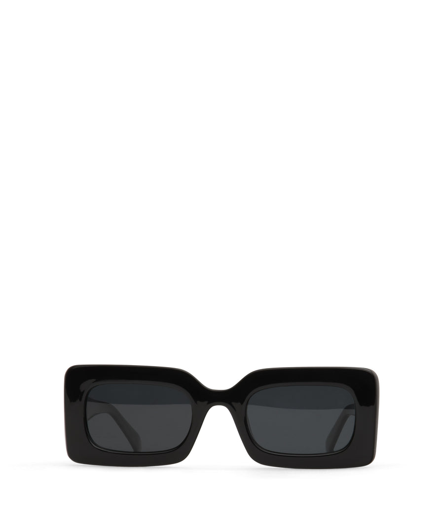 Black Rectangle Frame Tito Sunglasses by Matt & Nat